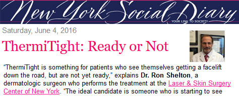 New York Social Diary feat. Dr. Ron Shelton