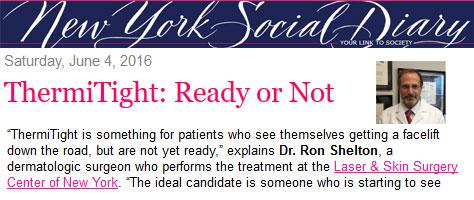 New York Social Diary feat. Dr. Ron Shelton