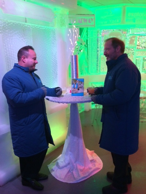 Dr Shelton at Minus Five Ice Bar at the NY Hilton.