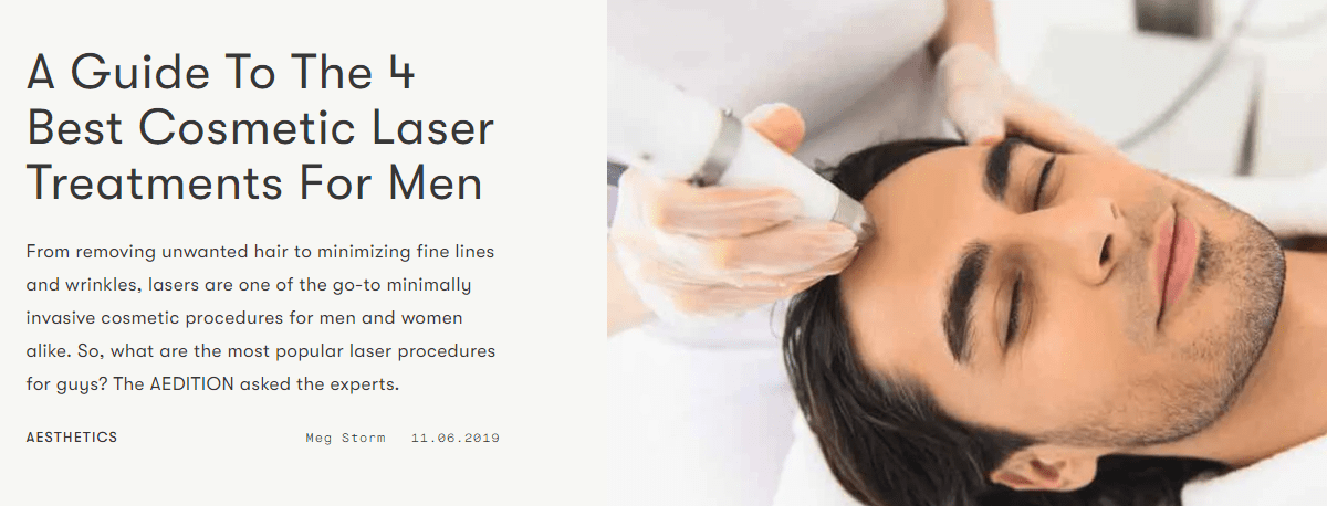Dr Ron Shelton's interview on Cosmetic Laser Treatments For Men